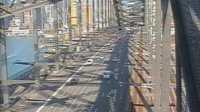 Daylight webcam view from The Rocks: Sydney Harbour Bridge