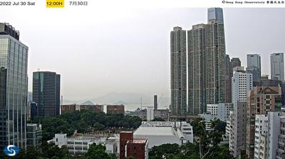 Daylight webcam view from Tsimshatsui: Kowloon Park