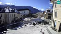 Bovec: Main square in - Dia