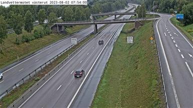 Webcam Landvetter: Landvettermotet Västerut