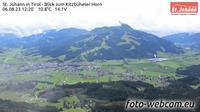 St. Johann in Tirol: Kitzb�heler Alpen - St. Johann in - Blick zum Kitzb�heler Horn - Overdag