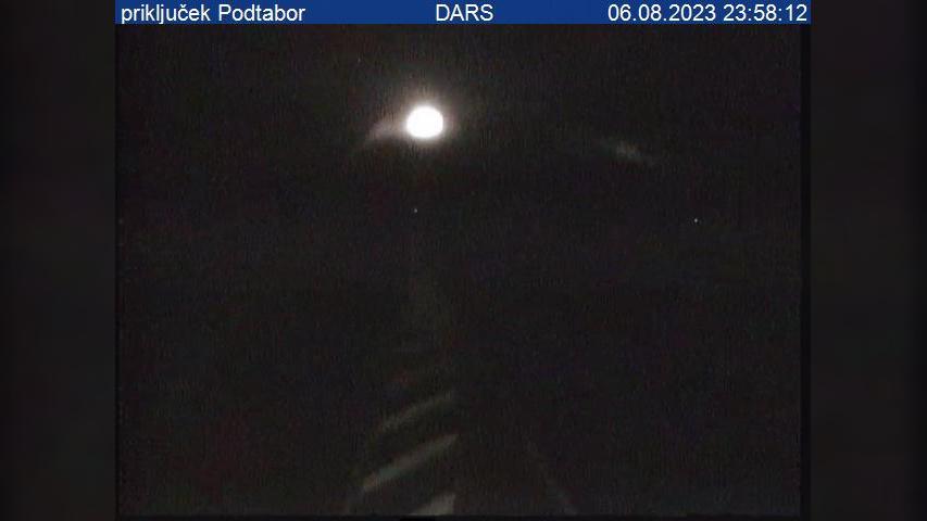 Webcam Podbrezje: A2/E61, Karavanke − Ljubljana, priključ