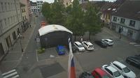 Benešov: Pohled na náměstí v - ě - El día
