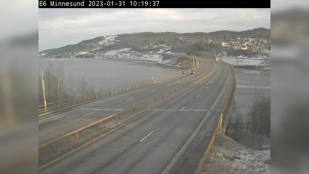 Webkamera Minnesund: E6 − Retning mot Lillehammer