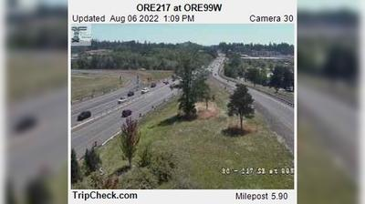 Daylight webcam view from Tigard: ORE217 at ORE99W