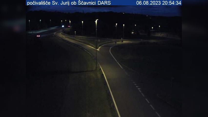 Webkamera Čakova: A5, Maribor − Lendava, počivališče Sv. Jur