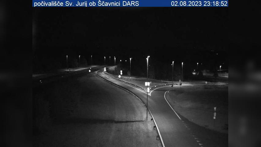 Webcam Čakova: A5, Maribor − Lendava, počivališče Sv. Jur