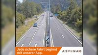 Wernberg: A, zwischen Anschlussstelle St. Niklas-Faakersee und St. Jakob - Rosental, Blickrichtung Slowenien - Km , - Overdag