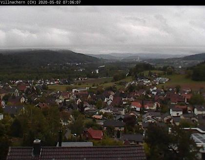 Villnachern: View on Aare river valley and - mountains