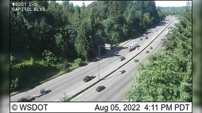 Current or last view from Olympia: I 5: Capitol Blvd
