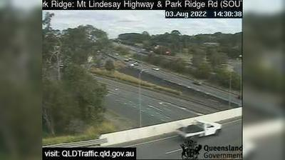 Current or last view from Park Ridge: Mount Lindesay Highway & − Road Interchange (Facing South)
