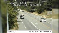 Poulsbo > North: SR  at MP .: Pioneer Hill Rd Looking North - Overdag