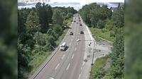 Gustavsberg: Grisslinge (Kameran är placerad på väg  Skärgårdsvägen i höjd med Älgstigen och är riktad mot Stockholm) - Overdag