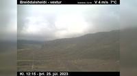 Last daylight view from Þórshöfn: Finnafjörður