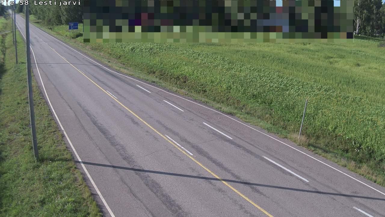 Webkamera Lestijärvi: Tie 58