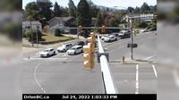 Nanaimo > North-West: , Hwy  at Zorkin Rd/Brechin Rd, looking northbound to Brechin Road - Dagtid