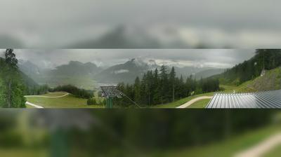 Vista de cámara web de luz diurna desde Ehrwald: Wettersteinbahnen − Sunracer − Sonnenhangbahn
