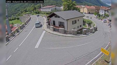 Vue webcam de jour à partir de Kobarid: R1 203, Žaga