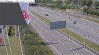 Stockholm: Trafikplats Tunberget (Kameran �r placerad p� v�g  Norrortsleden i h�jd med trafikplats Tunberget och �r riktad mot E/Trafikplats H�ggvik) - Overdag