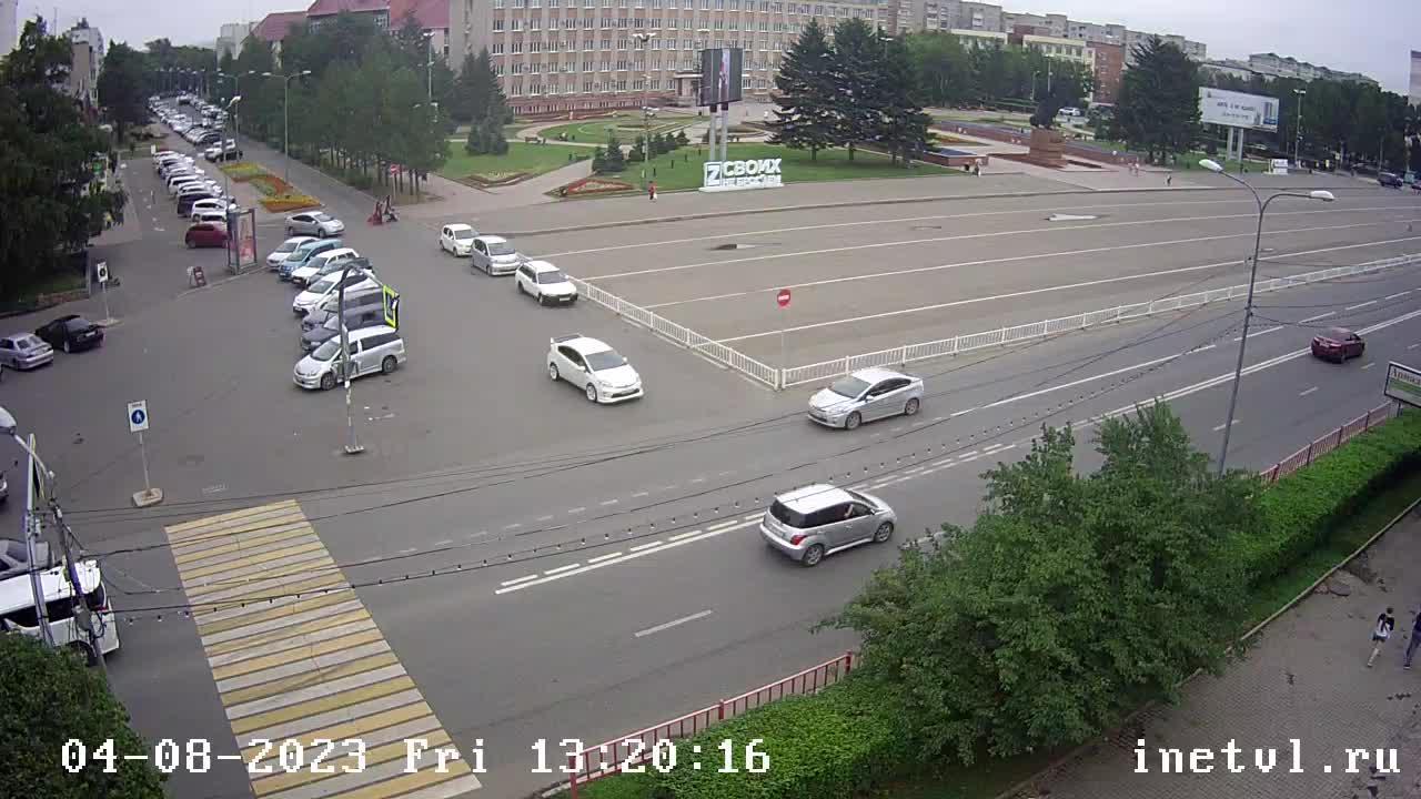 Webkamera Ussuriysk: Некрасова 79 Центральная площадь