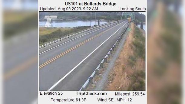 Webcam Bullards: US101 at − Bridge