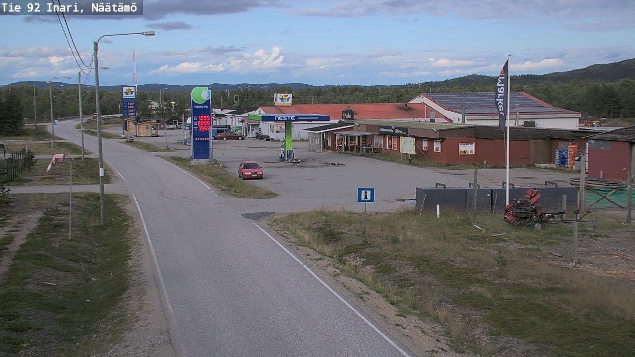Webcam Skoltebyen: Tie971 Inari, Naatamö − Pohjoiseen