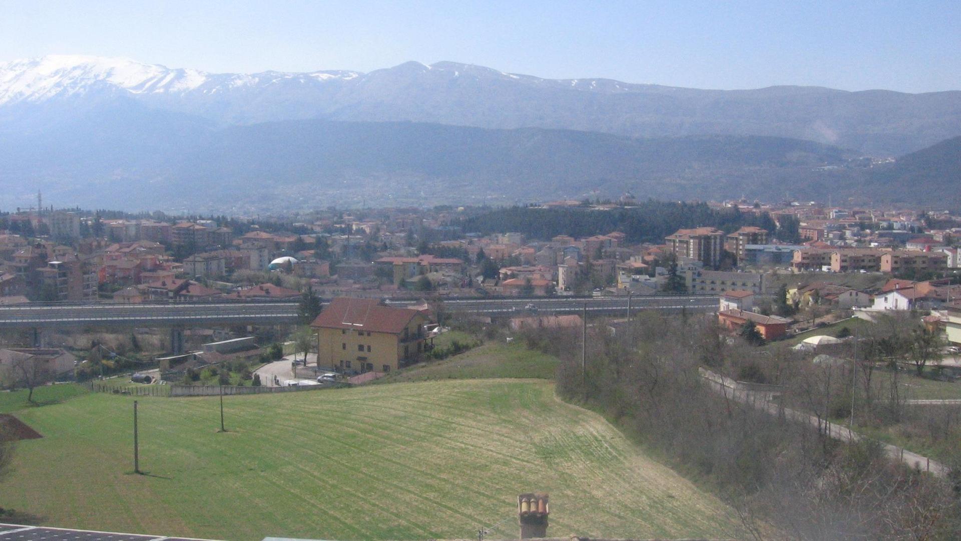 Webkamera L'Aquila: Panoramica da San Giacomo