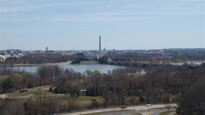 Webcam Washington D.C.: Lincoln Memorial − The White Hous