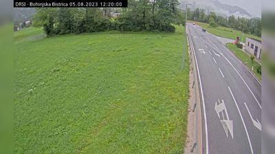Tageslicht webcam ansicht von Bohinjska Bistrica: R1 209, Bitnje − pred Bohinjsko Bistrico