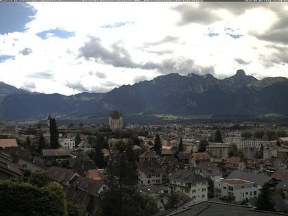 Steffisburg: Aussicht auf Schloss und Stadt Thun (Live Wetter)