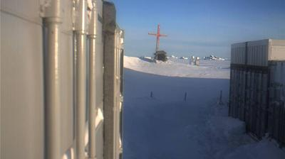 Vista de cámara web de luz diurna desde O Higgins: Pinguins at the German Antartic Station