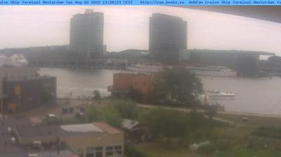 Daylight webcam view from Noord: Cruise Ship Terminal Amsterdam