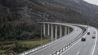 Nantua: A pr�s de - Tunnel de Chamoise � proximit� de - vue orient�e vers M�con - Overdag