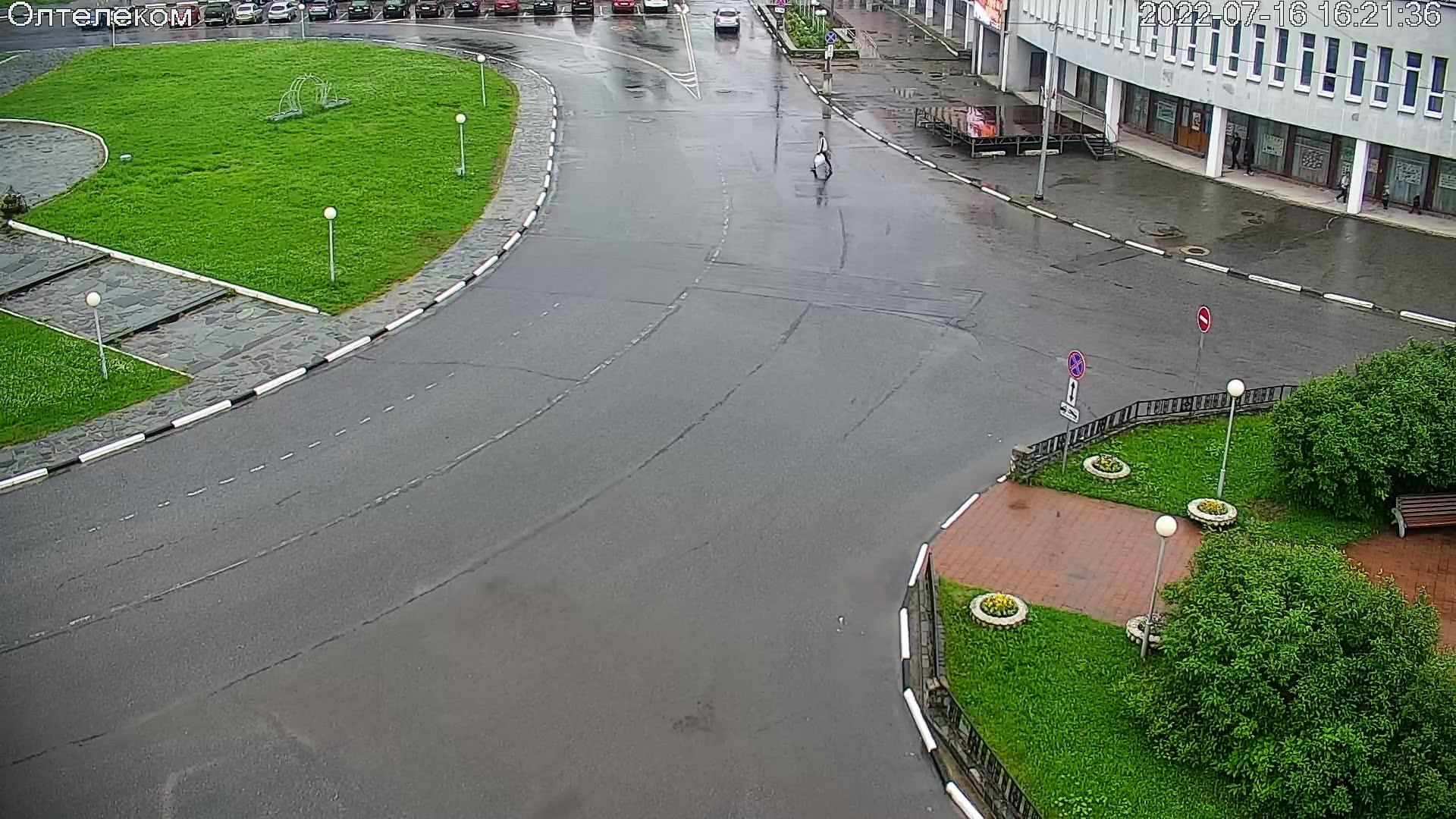 Webcam Olenegorsk: Центральная площадь
