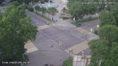 Уссурийск, перекресток Ленина - Суханова