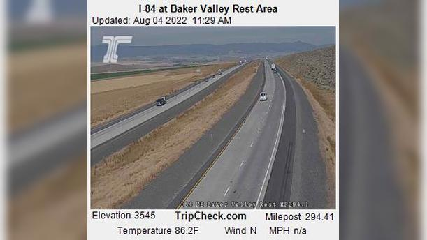 Webcam Haines: I-84 at Baker Valley Rest Area