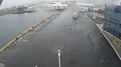 Current or last view from Arskogssandur › West: Dalvíkurhöfn
