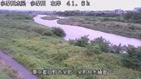 Last daylight view from Hino: Tama River