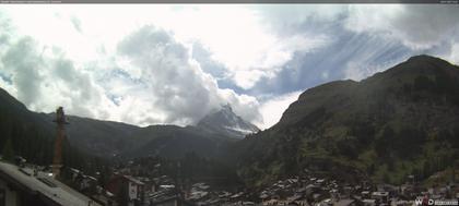 Zermatt: Blick auf das Matterhorn vom Balkon des Hotel Ambiance