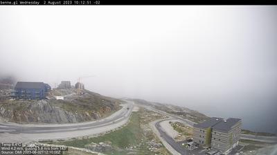 Vue actuelle ou dernière à partir de Nuuk: Qinngorput