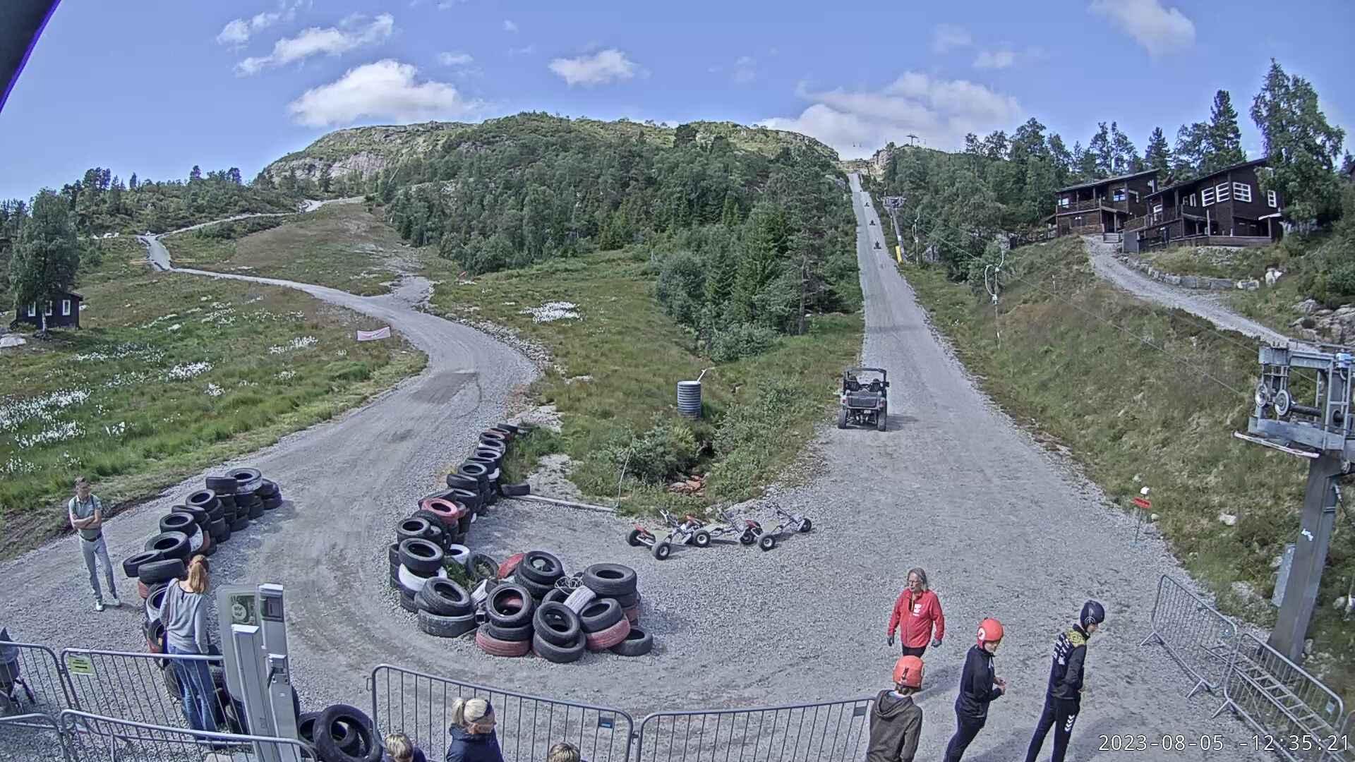 Webcam Sirdal skisenter, Sirdal, Vest-Agder, Norwegen