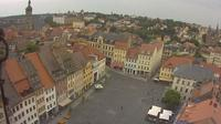 Altenburg: Blick auf den Marktplatz von - Overdag