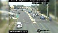 Petrie: Anzac Avenue - Dayboro Road - Gympie Road Roundabout (South-West) - Overdag