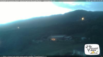 Current or last view from Bardi: Loc Segarati − vista del monte Carameto