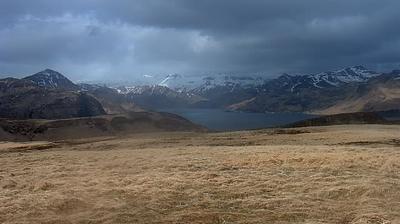 Vista de cámara web de luz diurna desde Akutan: volcano (Mt)