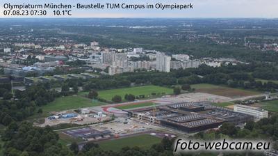 Milbertshofen: Olympiaturm München - Baustelle TUM Campus im Olympiapark