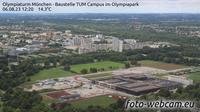 Milbertshofen: Olympiaturm München - Baustelle TUM Campus im Olympiapark - El día