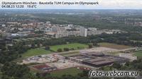 Milbertshofen: Olympiaturm M�nchen - Baustelle TUM Campus im Olympiapark - El día