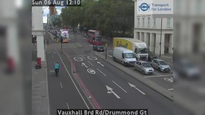 Vue webcam de jour à partir de Pimlico: Vauxhall Brd Rd/Drummond Gt