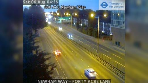 Webcam East London: NEWHAM WAY − FORTY ACRE LANE